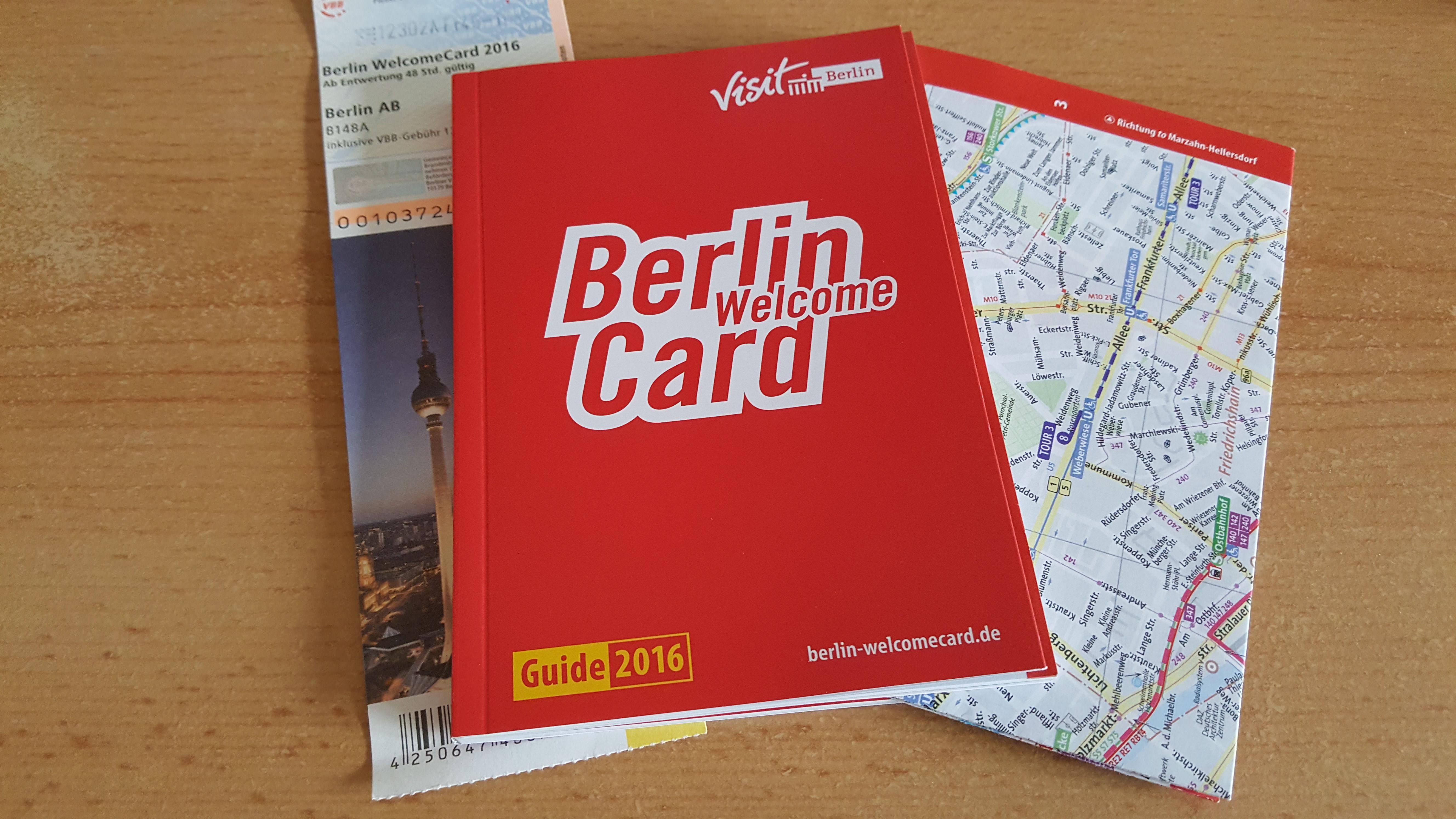 Welcome Card da Visit Berlin, parceira do evento.