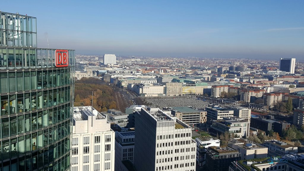 A cidade em um dos ângulos do Panorama Punkt